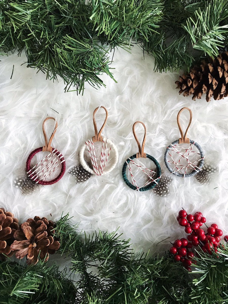 Classic Christmas Colored Ornaments│Bohemian Holiday Party Favors