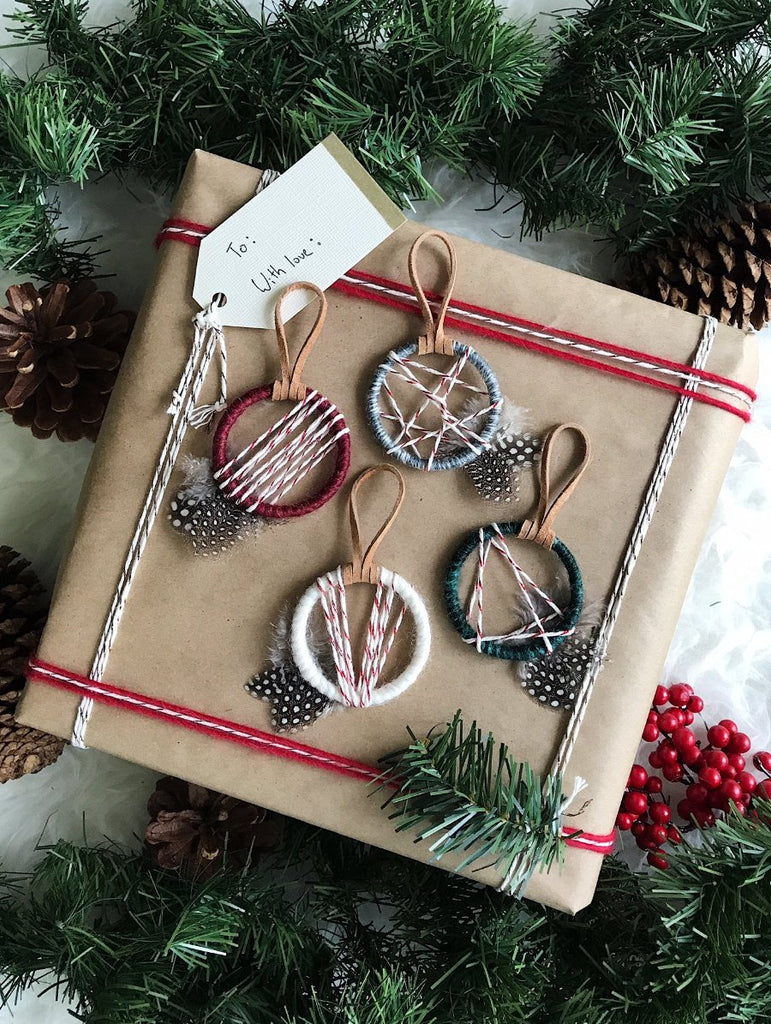 Boho Christmas Party Favors│Mini Dream Catcher Christmas Ornaments