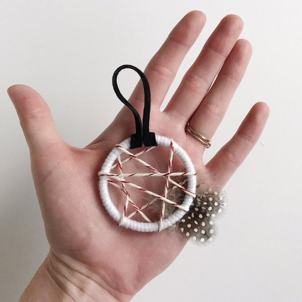 Close up of Boho Dream Catcher Ornament by Bast and Bruin