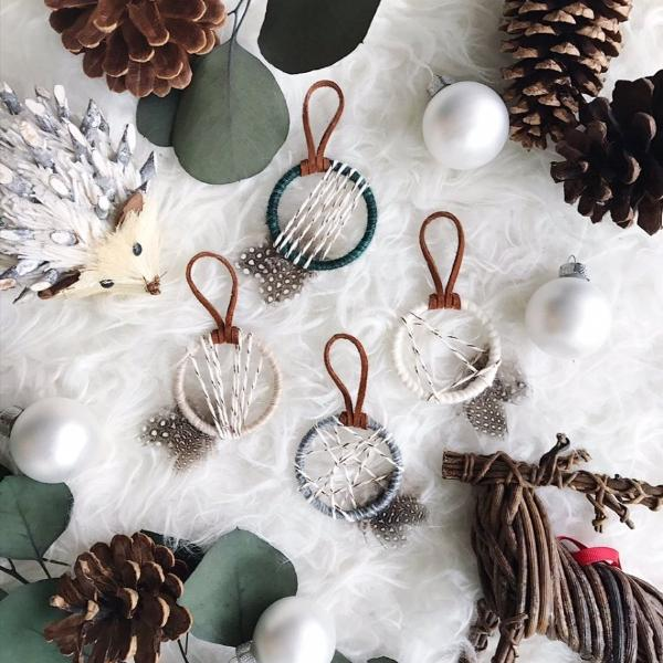 Woodland critters and boho ornaments