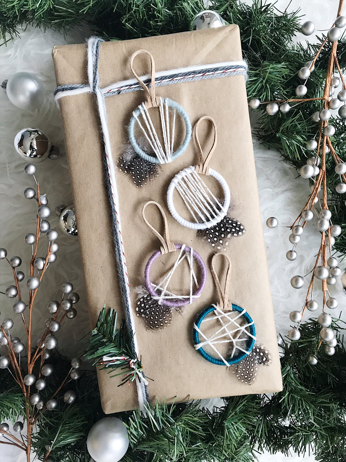 Silver Christmas Tree Decorations by Bast + Bruin