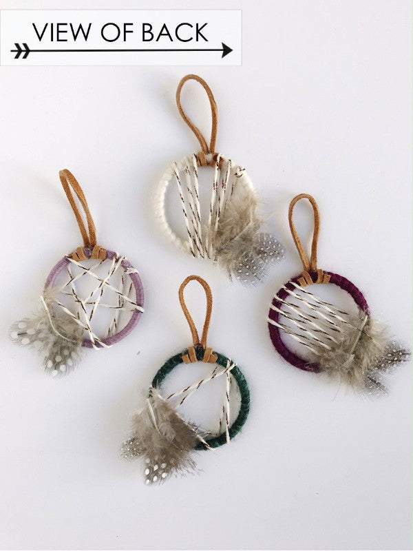 view of back - spring wedding dreamcatcher favors