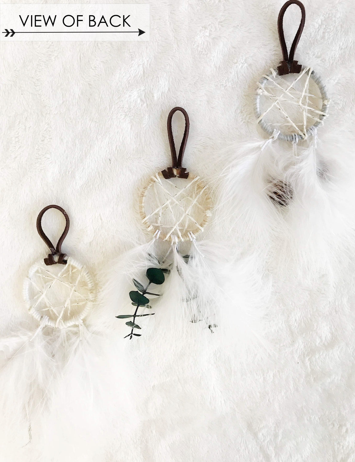 Winter Garden Dream Catcher Ornament - Wild Grains