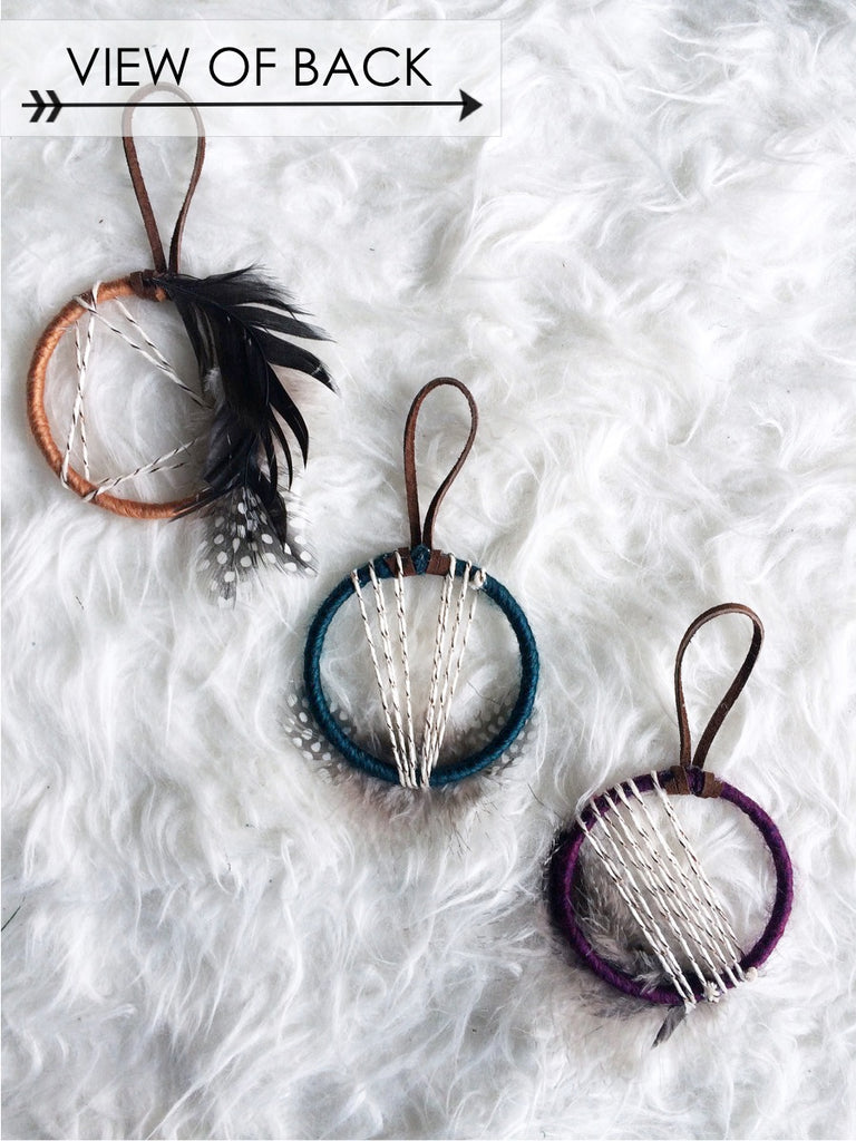 Plum Dream Catcher Ornament