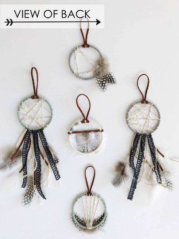 back view of dream catcher favors