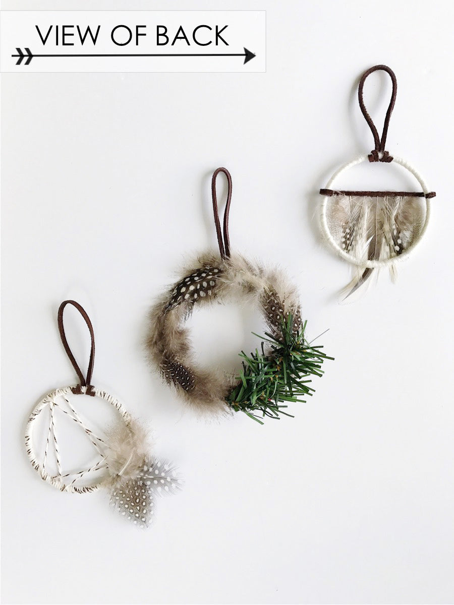 Noel Dream Catcher Ornament Trio