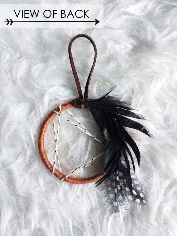 back view of gold dreamcatcher no 23 | bast + bruin