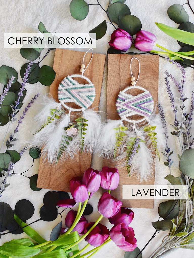 Floral Woven Dream Catcher Set