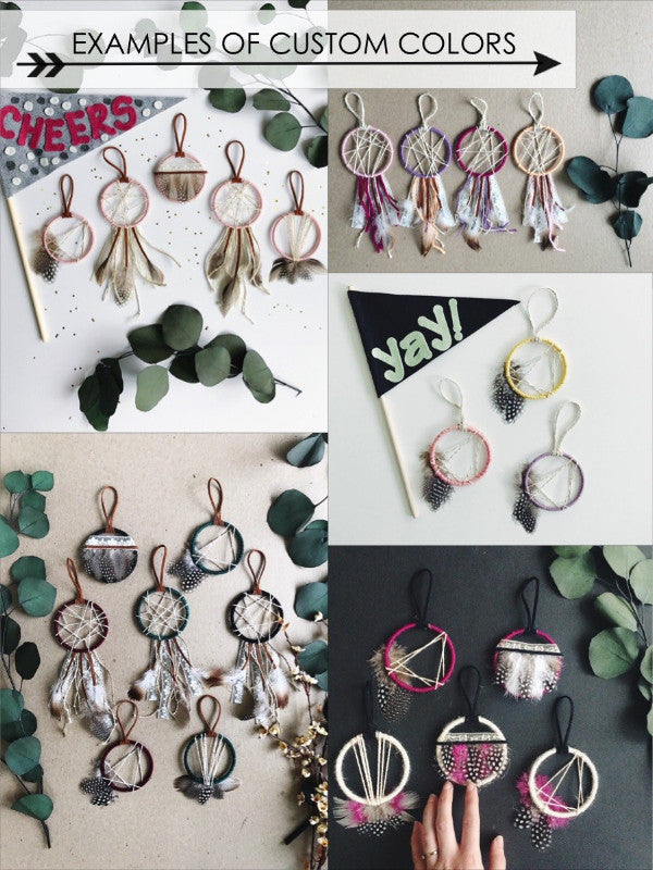 color customizations for wedding dreamcatcher set | Bast + Bruin