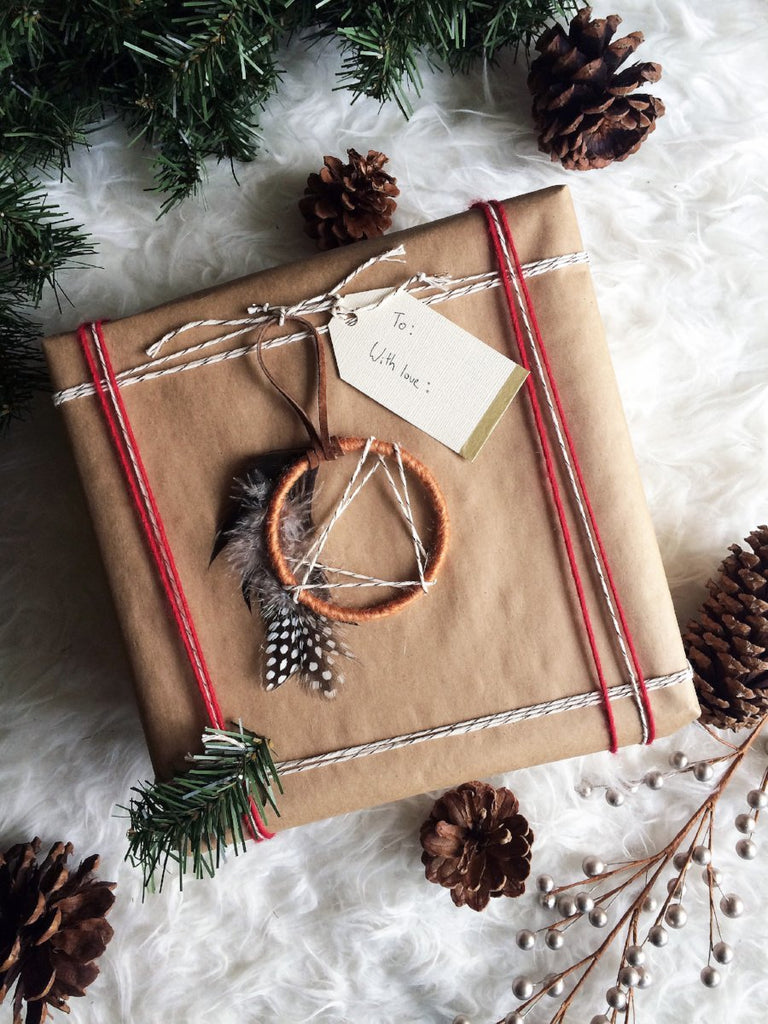 Modern Bohemian Christmas Ornament│Mini Dreamcatcher Ornament