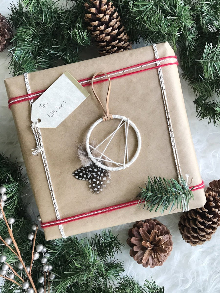 First Star Dream Catcher Ornament - Gold + Cognac