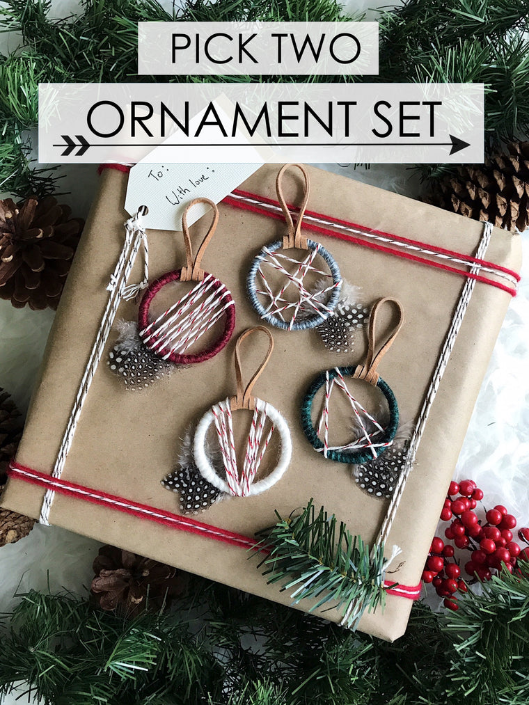34th Street Petite Ornament Set - Pick Two