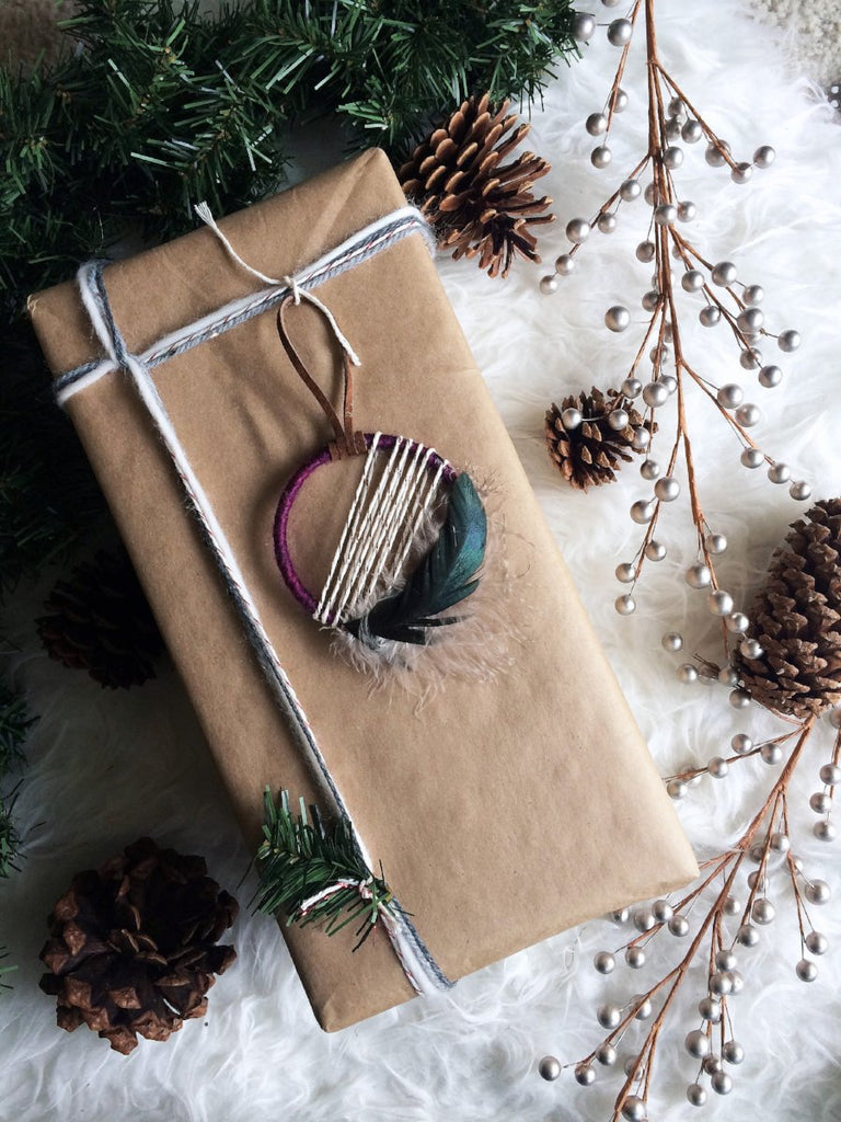 Plum Jewel Tone Bohemian Christmas Ornament and Gift for Friends