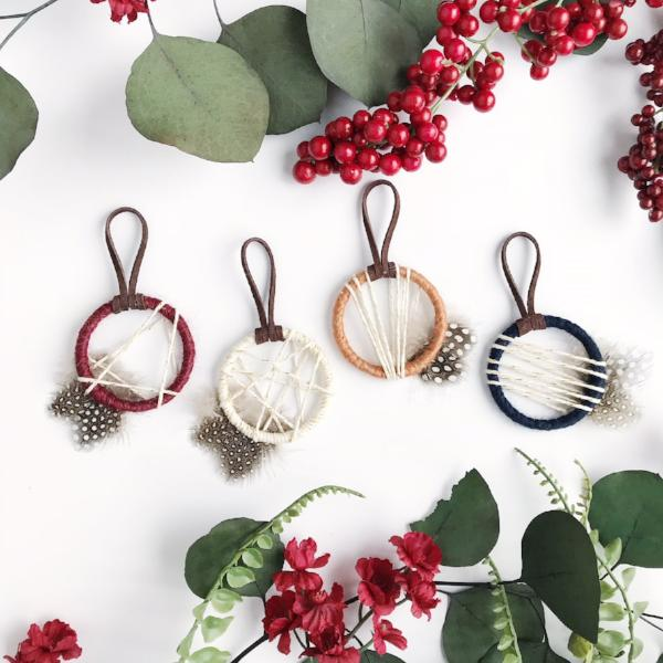 Burgundy, Navy, Gold Wedding | Mini Dream Catchers by Bast + Bruin