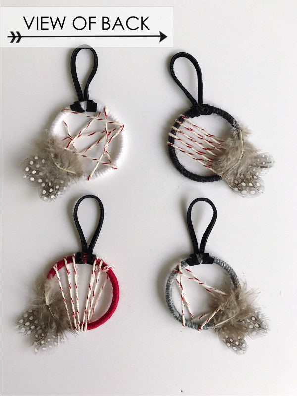 Back view of dreamcatcher christmas ornaments