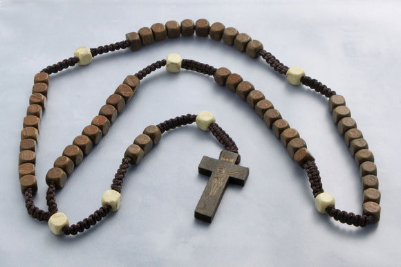 Wood and Cord Rosaries