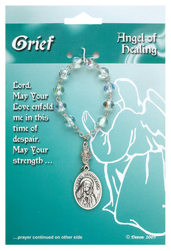 Angel Of Healing For Grief Prayer Card-One Decade Rosary