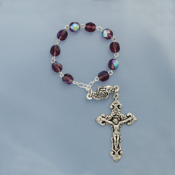 One Decade Crystal Bead Rosaries (In Quantities of 6 Or More)