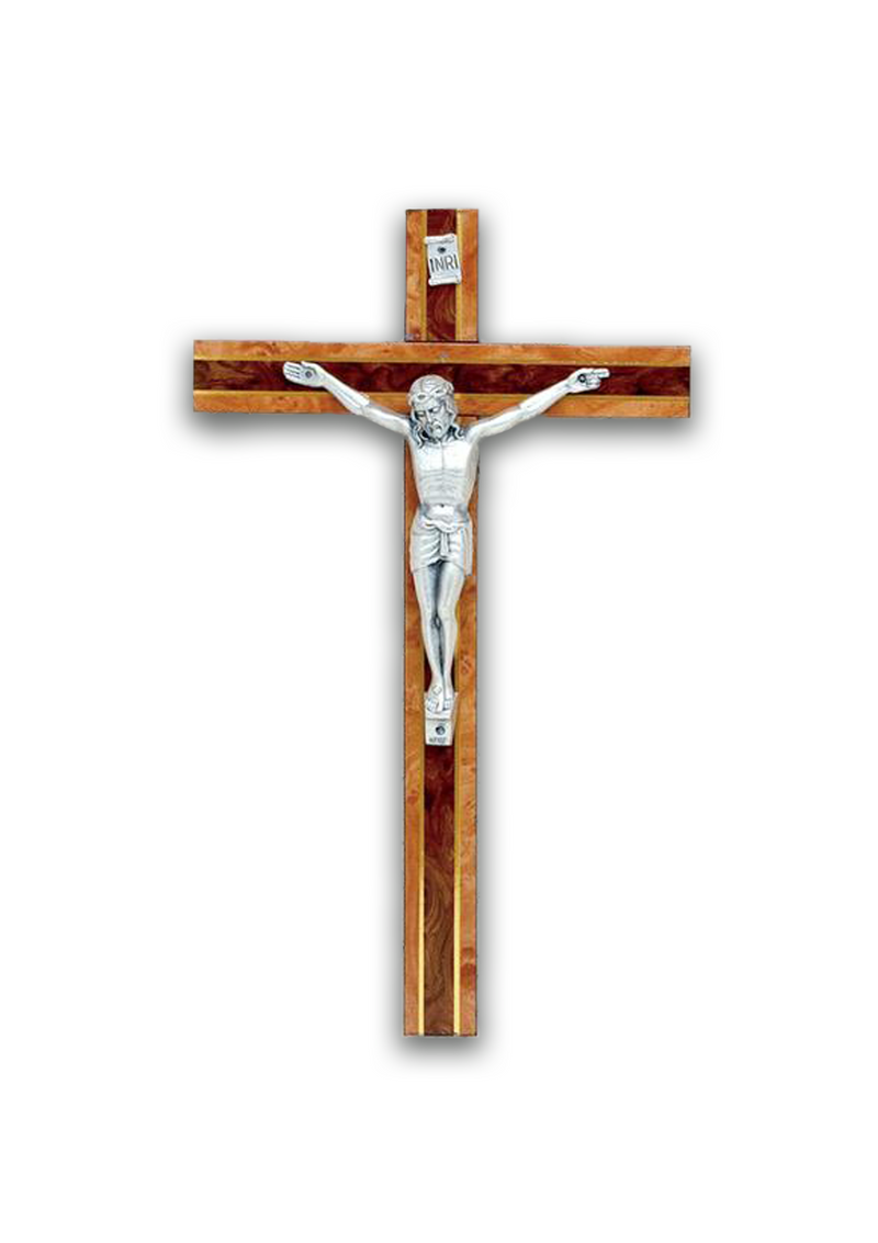 10in. Burl Wood Crucifix - MPO/25F