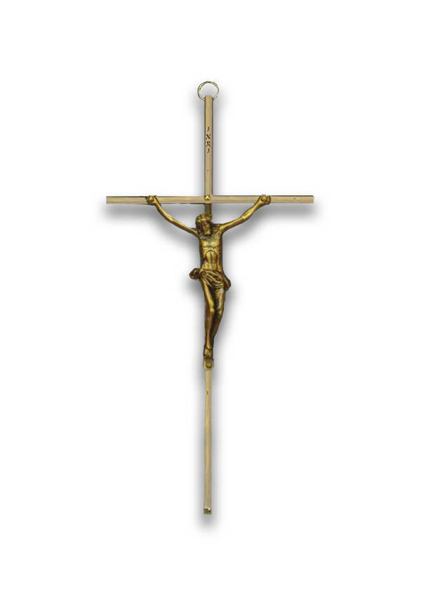 10in. Brass Crucifix