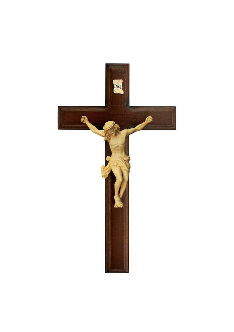 11in. Walnut Crucifix