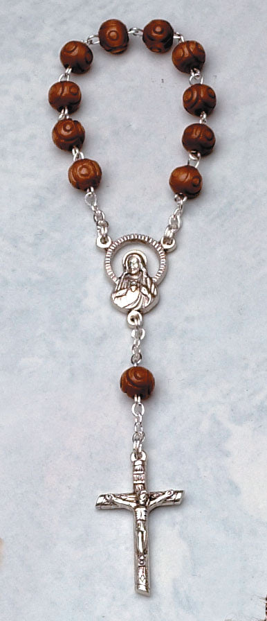 One Decade Wood Rosary (In Quantities of  6 or More.)