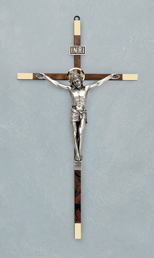 8.5in. Burl Crucifix