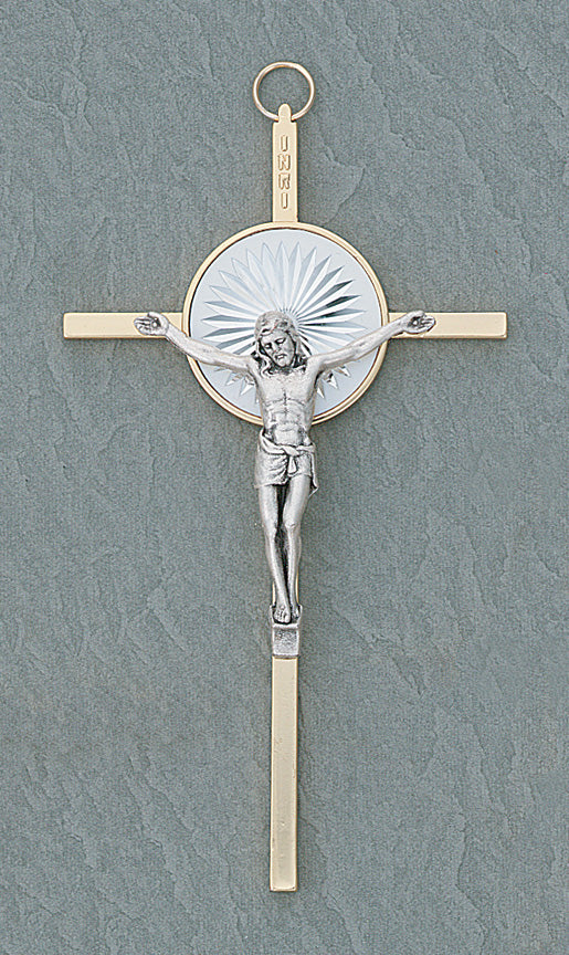 5in. Pearlized Crucifix