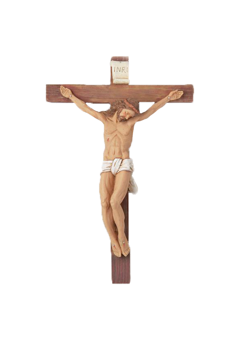 11in. Woodtone Crucifix