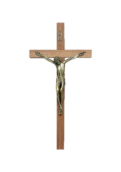 19in. Walnut Crucifix