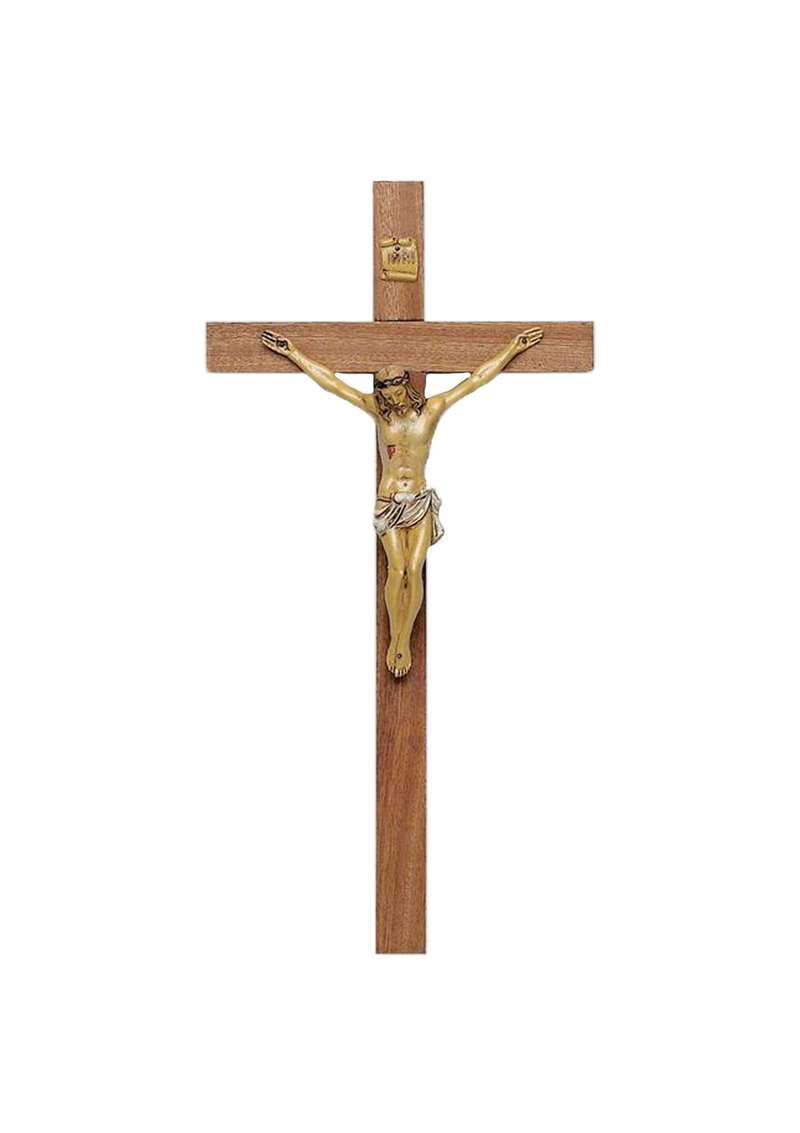 15in. Walnut Crucifix