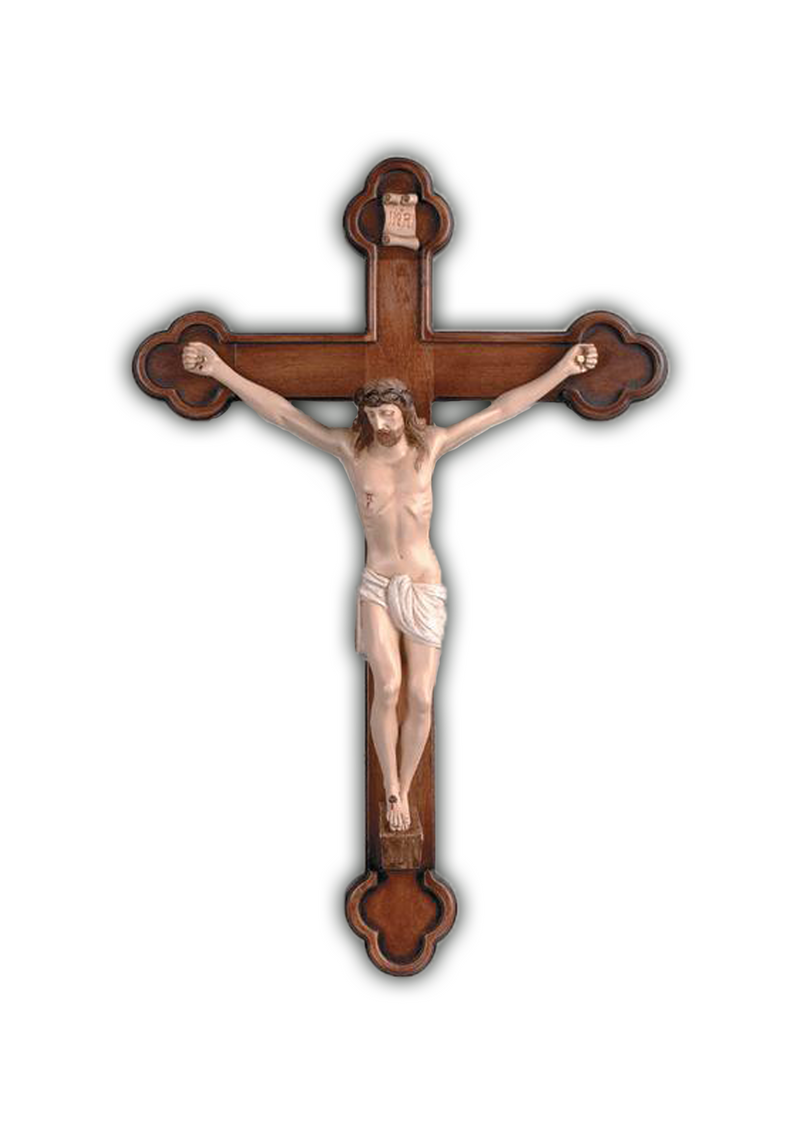 25in. Hand-Carved Crucifix