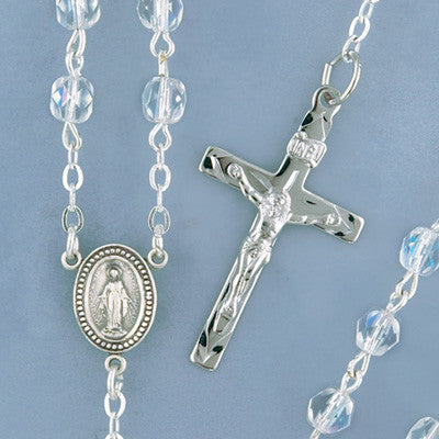 Faceted Crystal Rosary - 2300