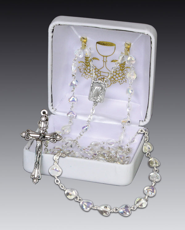 Crystal Heart Rosary - 41929
