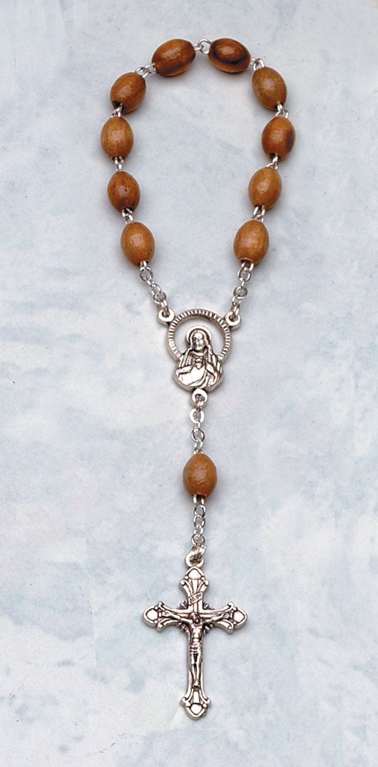 One Decade Olive Wood Rosary (In Quantities of 6 or More)