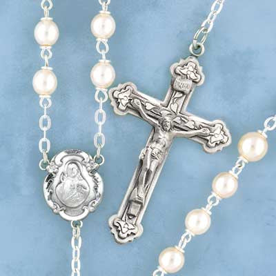 Round Pearl Rosary - 427/S
