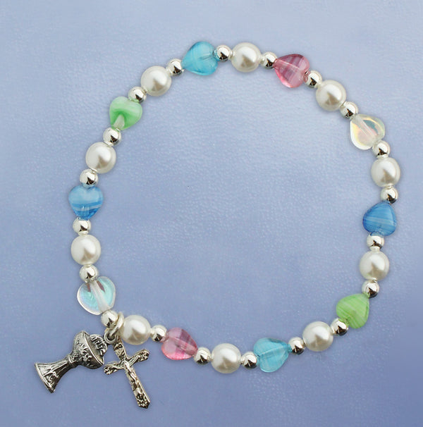 Multi Colored Heart Bracelet - 45270/M