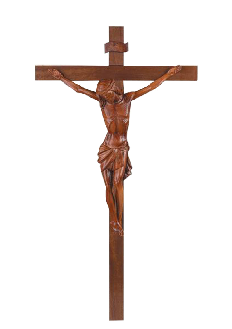 45in. Thick Wood Crucifix- 17/150