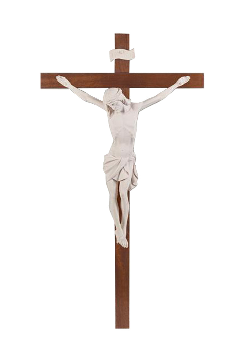 45in. Thick Wood Crucifix- 17/155