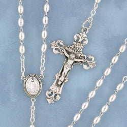 Oval Sterling Rosary - 533/S