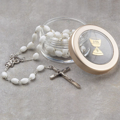 White Rosary & Box - 7654/WH