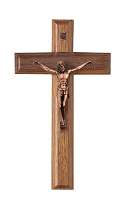 7.5in. Walnut Crucifix