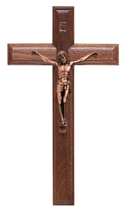 9.in Walnut Crucifix