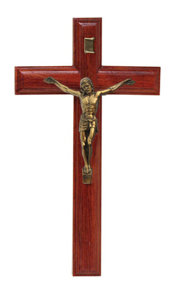 9in. Rosewood Crucifix