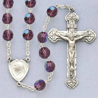 Swarovski Sterling Rosary - 830/S/AM