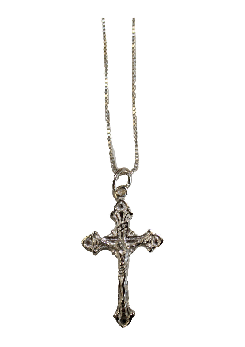 Sterling Silver Crucifix With Necklace