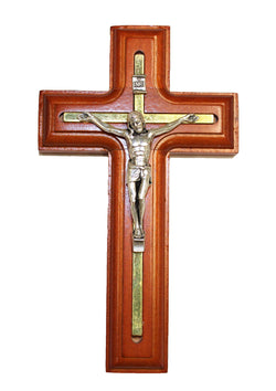 Rosewood Gold Plated Crucifix