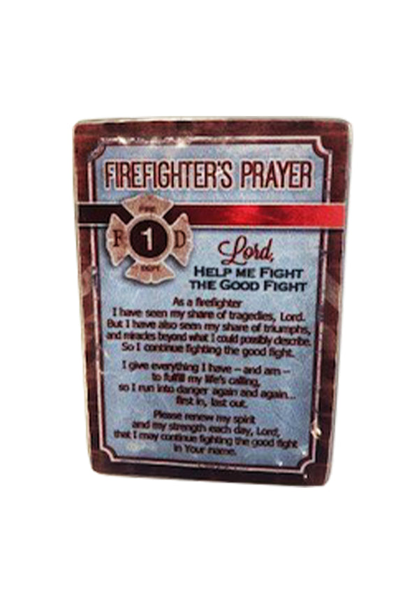 Firefighters Prayer Metal Plaque