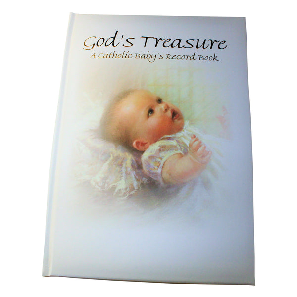 God's Treasure-A Catholic Baby's Record Book-RG10343