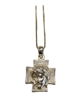 Sterling Silver Blessed Head of Jesus With Chain